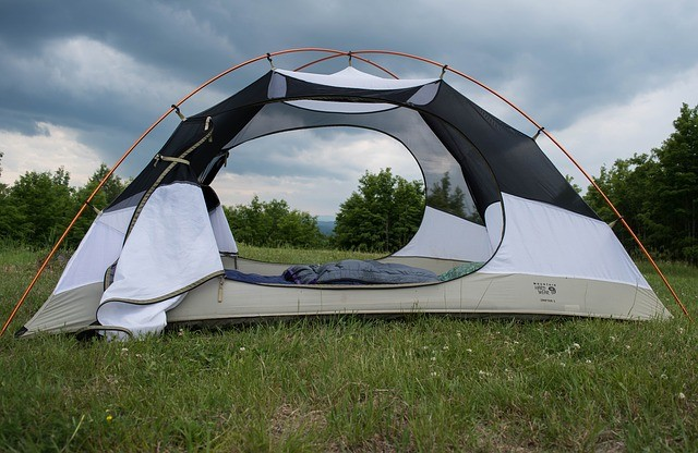 tent with many windows